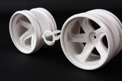 54676 GF-01 White 5-Spoke Wheels