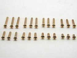 NSR-310G Button Head Hex Screw 3x10 6pcs Gold