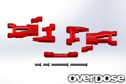 OD1995 Adjustable Alumi Rear Suspension Arm 5deg Red
