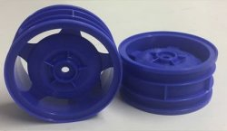 54681 Star-Dish Wheels (Blue) - 4WD Buggy Front