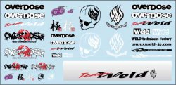 OD1215 OVERDOSE Logo Decal Sheet