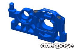 OD2082 Aluminium Motor Mount Type-2 Blue for Drift Package
