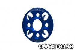 OD1655 Aluminum Spur Gear Support Plate Type-4 Blue