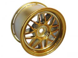TUM26G 8 Mesh Gold Wheels for M-Chassis (2pcs