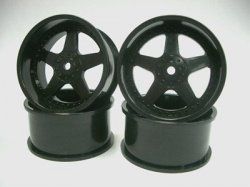 SPA-742 Drift Wheel VS 26mm Black 3mm Offset 4pcs