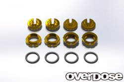 OD1724 Aluminum Adjustment Nut and Spring End Set (Gold)