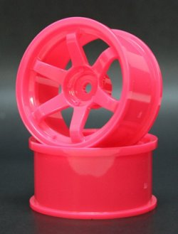 SPKV-007 6 Spoke Wheels KV Coated Pink Offset 5mm