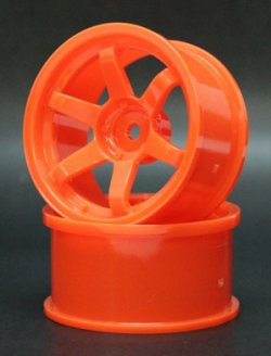 SPKV-009 6-Spoke Wheel KV Coat Orange 8mm Offset