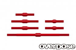 OD2367 Aluminum Turnbuckle Set For OD / Red