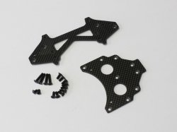 SCW022 Long WB Rear Plate set (273mm/Carbon)