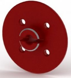 AC437R Large Diameter Aluminum Spur Gear Adapter (30mm/Red)