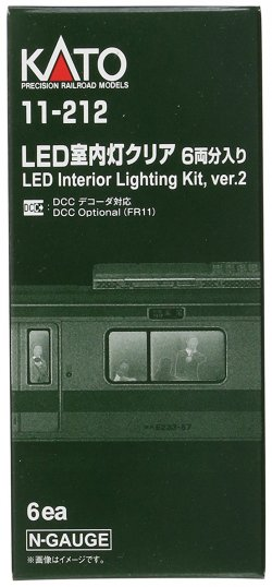 11-212 LED Interior Lighting Kit, ver.2 DCC Optional FR11 6pk