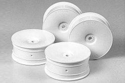 Tamiya RC Med.Narrow Dish Wheels - White (Offset 0)