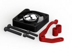 STR125AR STR114 Side Mount Direct Fan with Mount (Red)