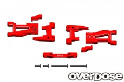 OD1938 Adjustable Aluminium Rear Suspension Arm Red 5deg