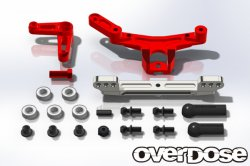 OD1695 Slide Rack Steering set for Divall (Red)
