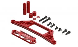 STR211R Drift Package Two-Piece Bumper Support Red