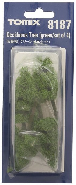 Deciduous Tree Green Set of 4