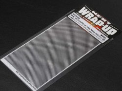 0005-02 REAL 3D Grill Decal 130x75mm (Cross Mesh Heavy)