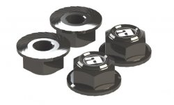 STR216GU Center Cap Aluminum Wheel Nuts (Gun Metal / 4pcs)