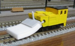 12505 Mop-Kun Rail Cleaning Car (Yellow)