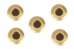 RC Anodized Flange Lock Nuts - 4mm(Gold 5pcs)