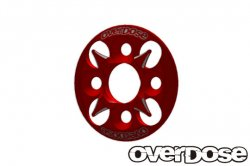 OD1656 Aluminum Spur Gear Support Plate Type-4 Red
