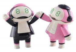 Tiny Mechatro Mate No.02 `Black & Pink`