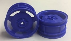 54682 Star-Dish Wheels (Blue) - Buggy Rear