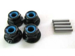 Wheel Pin & Nut (4 pcs each)