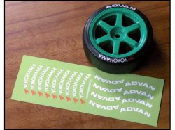 STS021 Drift Tire Logo Sticker Yokohama / ADVAN