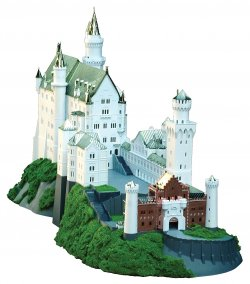 1/220 Royal Castles Neuschwanstein Gold