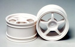 Tamiya RC One-Piece Spoke Wheels - 1/10 (1pr)