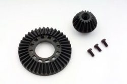 Ring Gear & Drive Gear (Graphite) for Front One Way & Solid Axle