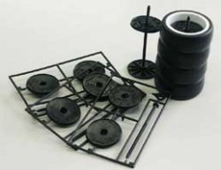 SK8K Wheel Holder Black 3pcs