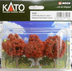 24-087 Kato Zelkova Trees [Brown] 65mm (3pcs.