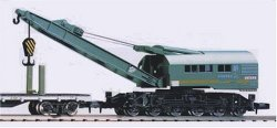 2772 JNR Crane Type SO80 Green w/ flat wagon
