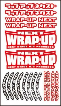 0039-03 WRAP-UP NEXT Logo / Tire Sticker Type - A (Red)