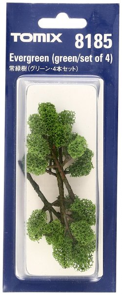 Evergreen Tree Green/Set of 4