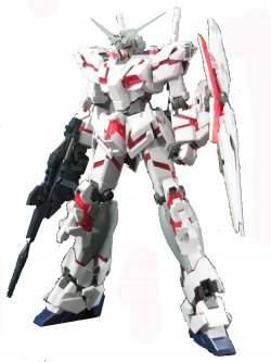 MG RX-0 UNICORN GUNDAM HD COLOR + MS CAGE