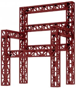 PPC-K39RD Steel Frame Truss Red