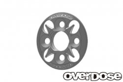 OD1658 Aluminum Spur Gear Support Plate Type-4 Silver