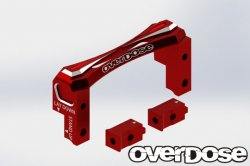 OD2492 2Way Layaout Aluminum Servo Mount RED