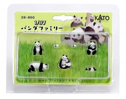 Figuanimal 1/87 Panda Family (7 Pieces)