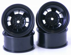 SPA-774 TS Type Wheel 12mm Offset Black 4pcs