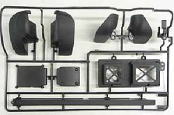 51509 XV-01 Chassis L Parts - (Wheel Well Liner)