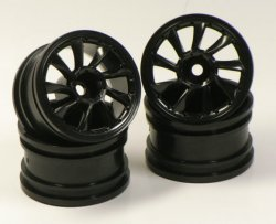 SPA-266 mini L Type Wheel offset 2mm Black (pack of 4)