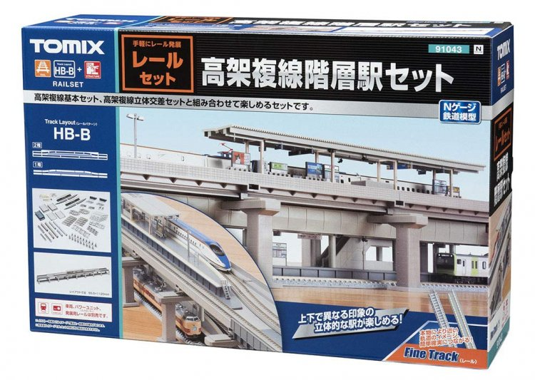 91043 Fine Track Rail Set Viaduct Double Track Hierarchical Stat - Click Image to Close