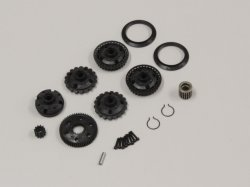 OT208 Differential Gear Case and Pulley (Optima)