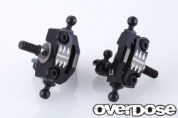 OD2081 Adjustable Aluminium Knuckle Set (RWD / BLACK)